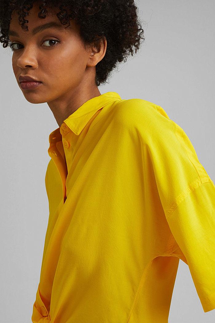 Knoten-Bluse aus LENZING™ ECOVERO™, YELLOW, detail image number 5