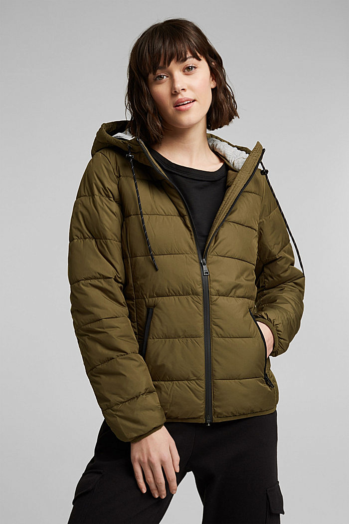 Quilted jacket with 3M™ Thinsulate™ padding, KHAKI GREEN, detail image number 0