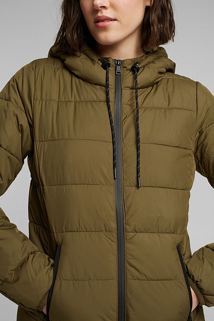 Quilted jacket with 3M™ Thinsulate™ padding, KHAKI GREEN, detail image number 2