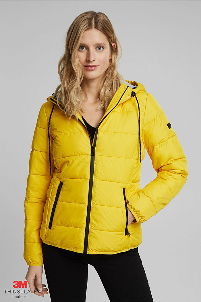 Quilted jacket with 3M™ Thinsulate™ padding, YELLOW, detail image number 0
