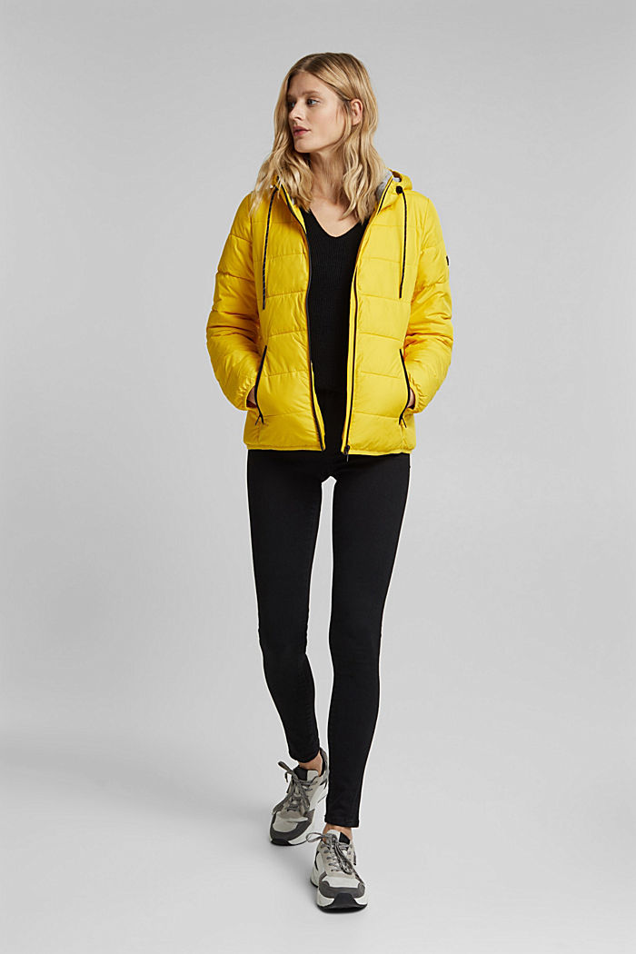 Quilted jacket with 3M™ Thinsulate™ padding, YELLOW, detail image number 1