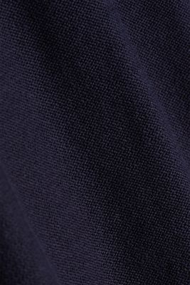 Crewneck jumper made of 100% organic cotton, NAVY, detail
