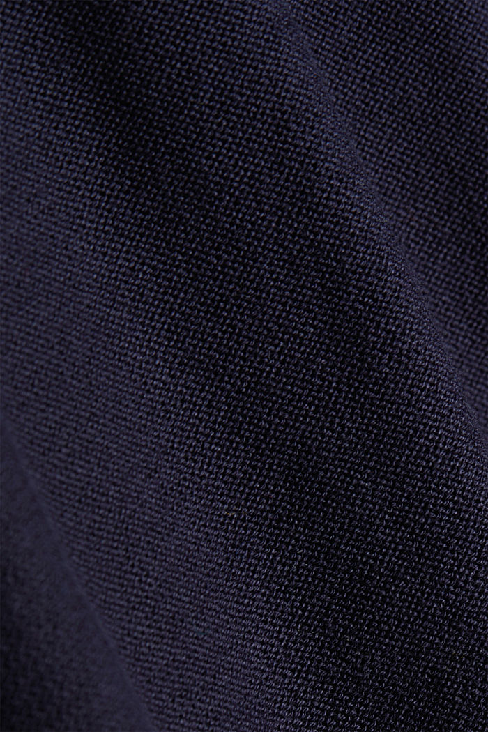 Crewneck jumper made of 100% organic cotton, NAVY, detail image number 4