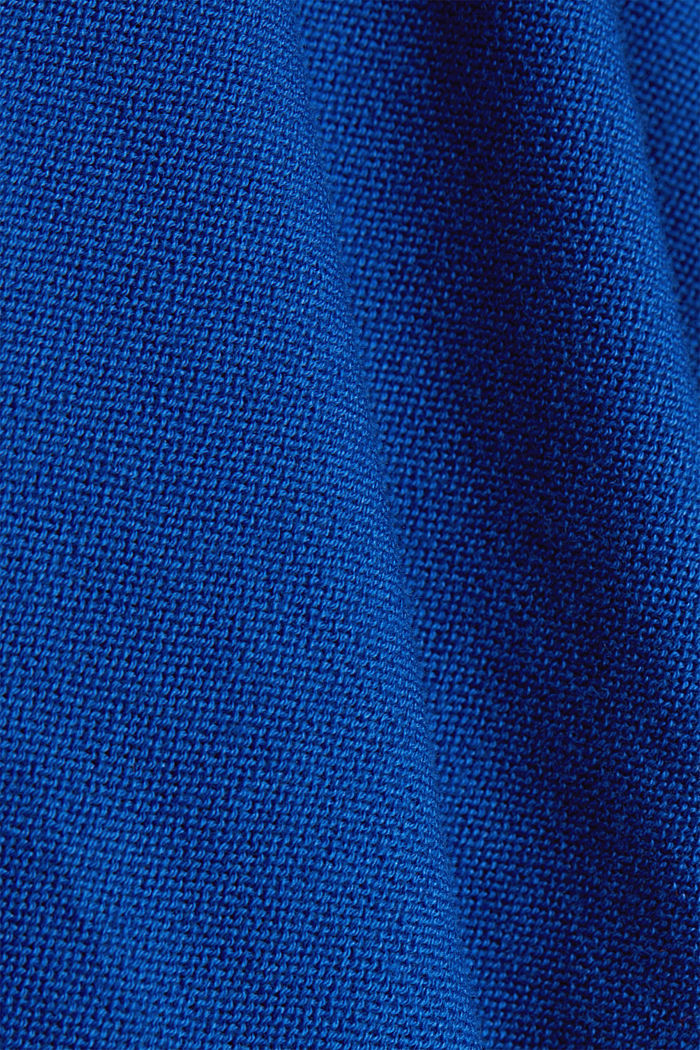 Crewneck jumper made of 100% organic cotton, BRIGHT BLUE, detail image number 4