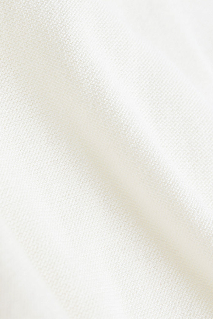V-neck jumper made of 100% organic cotton, OFF WHITE, detail image number 3