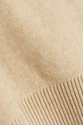 V-neck jumper made of 100% organic cotton, BEIGE 5, detail