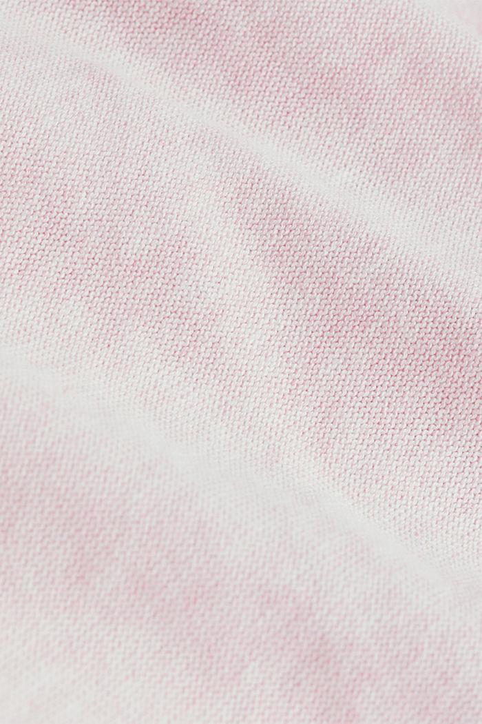 V-neck jumper made of 100% organic cotton, LIGHT PINK, detail image number 4