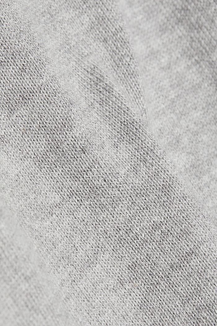 Basic V-neck jumper, organic cotton, LIGHT GREY, detail image number 4