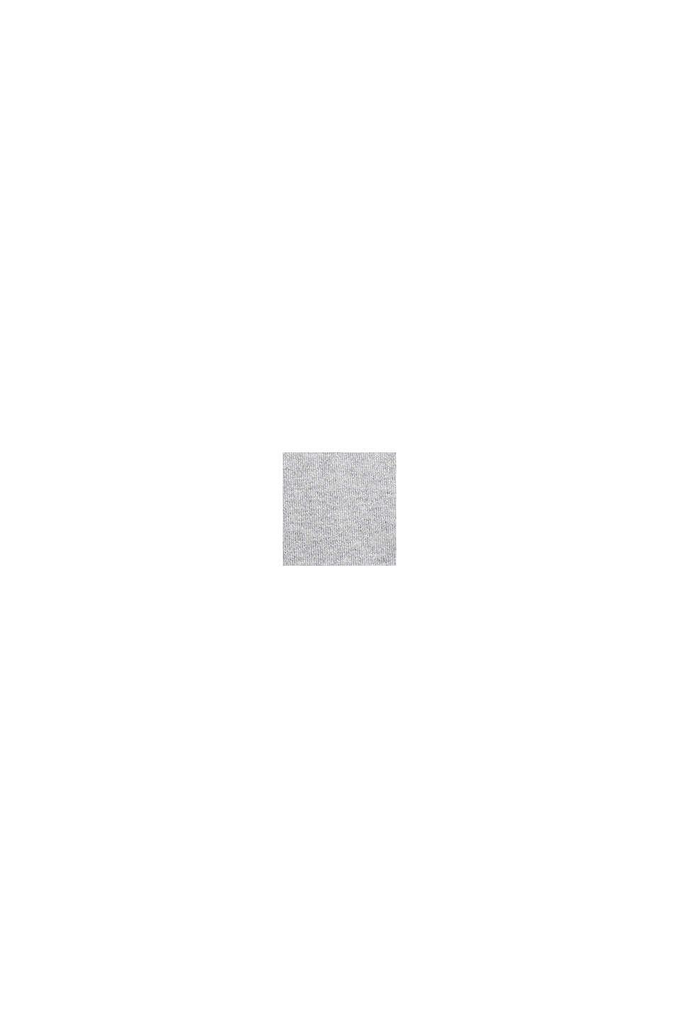 Basic V-neck jumper, organic cotton, LIGHT GREY, swatch