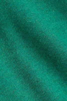 Basic V-neck jumper, organic cotton, DARK GREEN, detail
