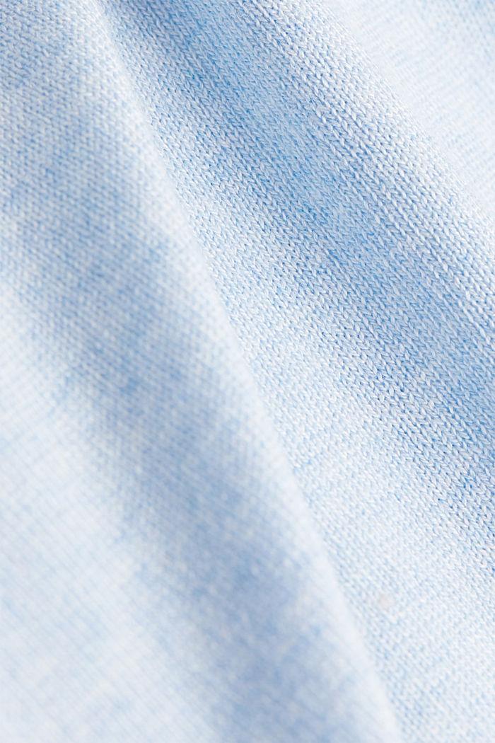Basic V-Neck-Pullover, Organic Cotton, LIGHT BLUE, detail image number 4