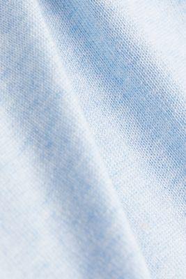 Basic V-neck jumper, organic cotton, LIGHT BLUE, detail