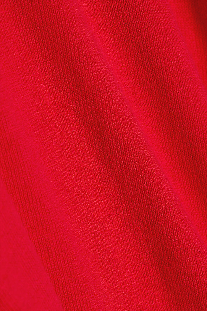 Basic V-neck jumper, organic cotton, RED, detail image number 4