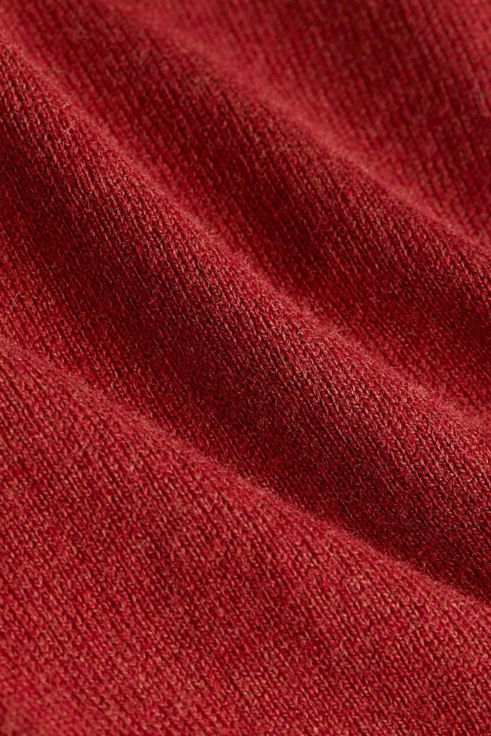 Basic V-Neck-Pullover, Organic Cotton, TERRACOTTA, detail image number 4