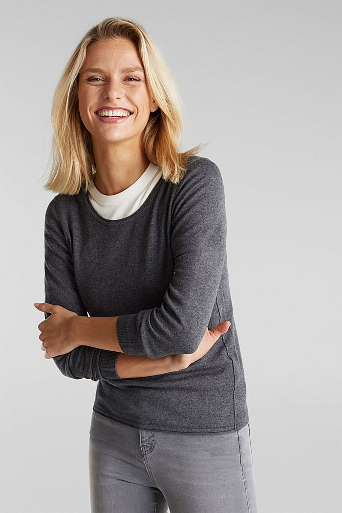 Basic Rundhals-Pullover, Organic Cotton