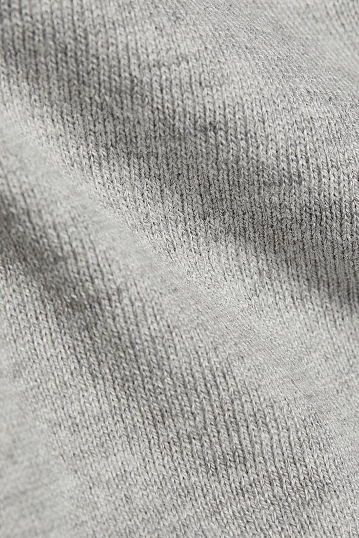 Basic crewneck jumper, organic cotton, LIGHT GREY, detail image number 4