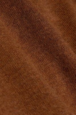 Basic crewneck jumper, organic cotton, TOFFEE, detail
