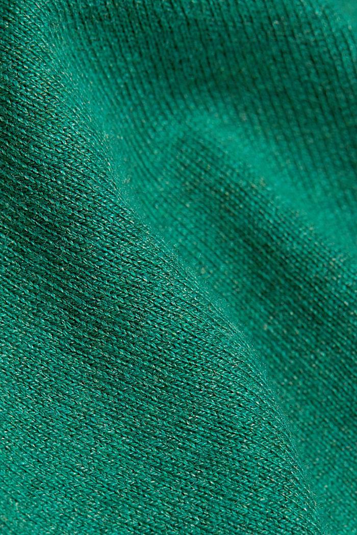 Basic crewneck jumper, organic cotton, DARK GREEN, detail image number 4