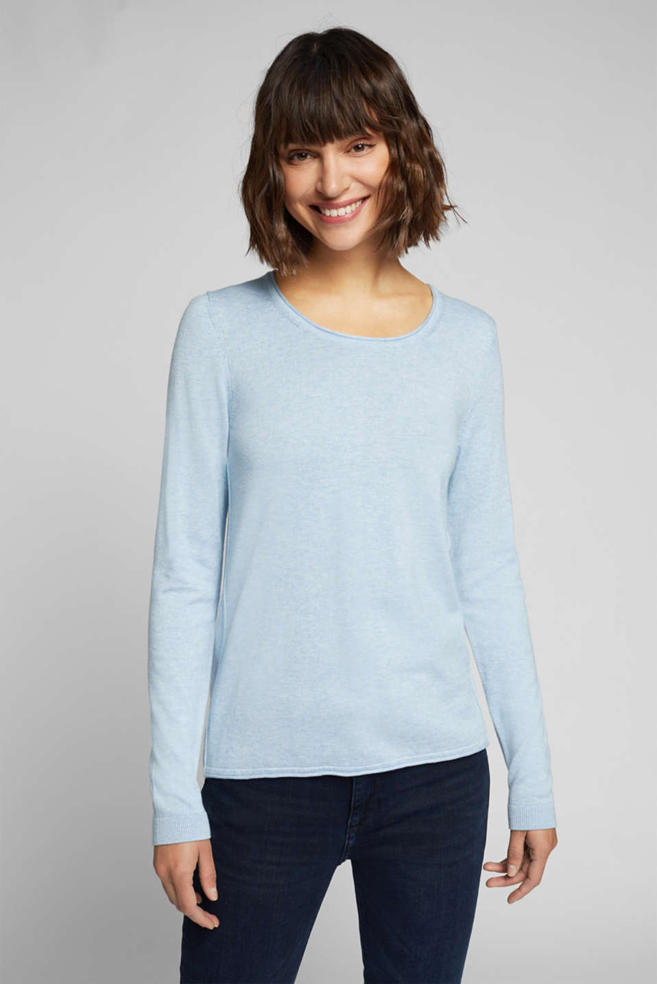 edc - Basic crewneck jumper, organic cotton