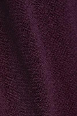Basic crewneck jumper, organic cotton, AUBERGINE, detail
