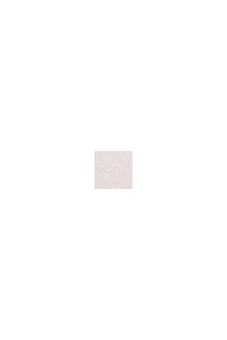 Basis-pullover med rund hals, økologisk bomuld, LIGHT PINK, swatch