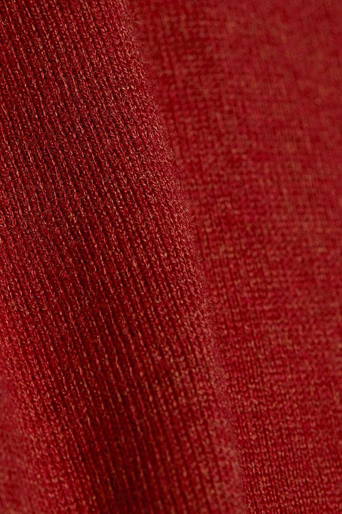 Perusneulepusero, sis. luomupuuvillaa, pyöreä pääntie, TERRACOTTA, detail image number 4