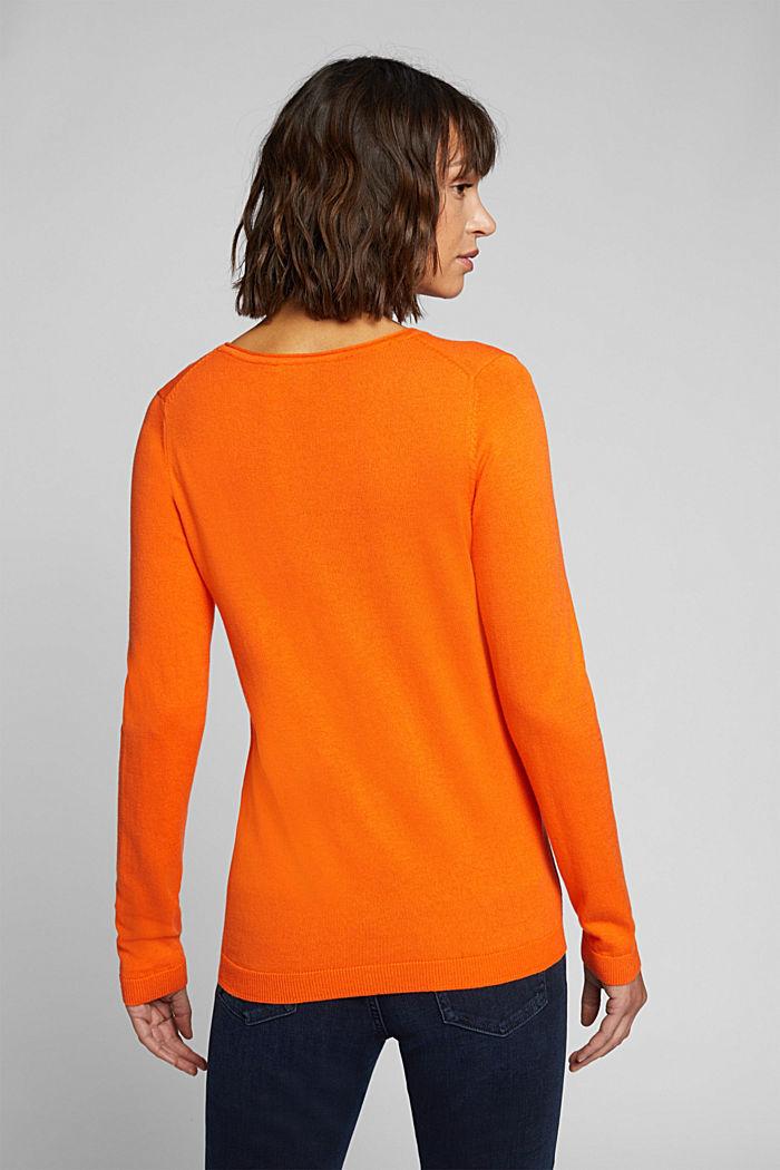 Basic Rundhals-Pullover, Organic Cotton, ORANGE, detail image number 3