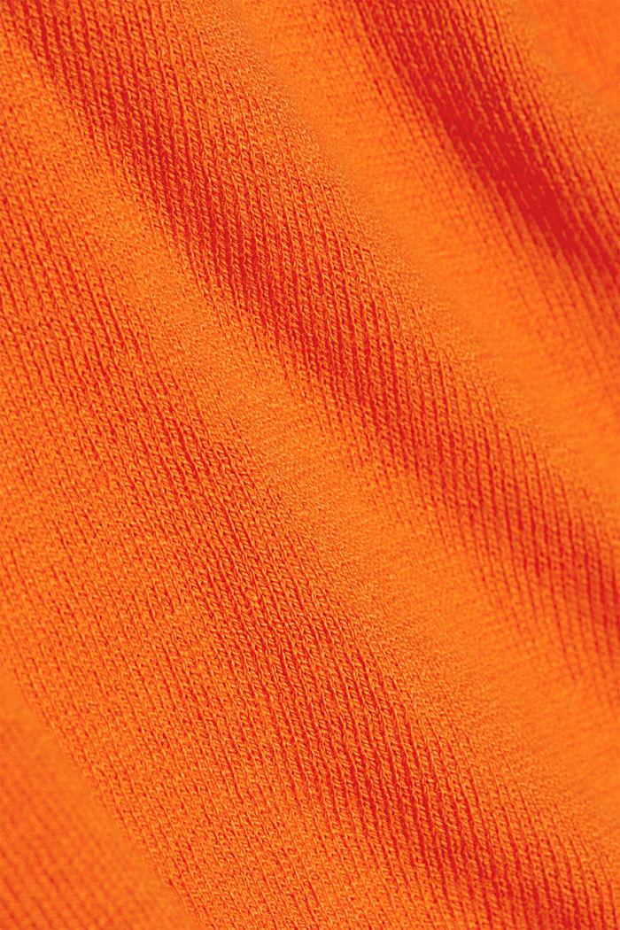 Basic Rundhals-Pullover, Organic Cotton, ORANGE, detail image number 4