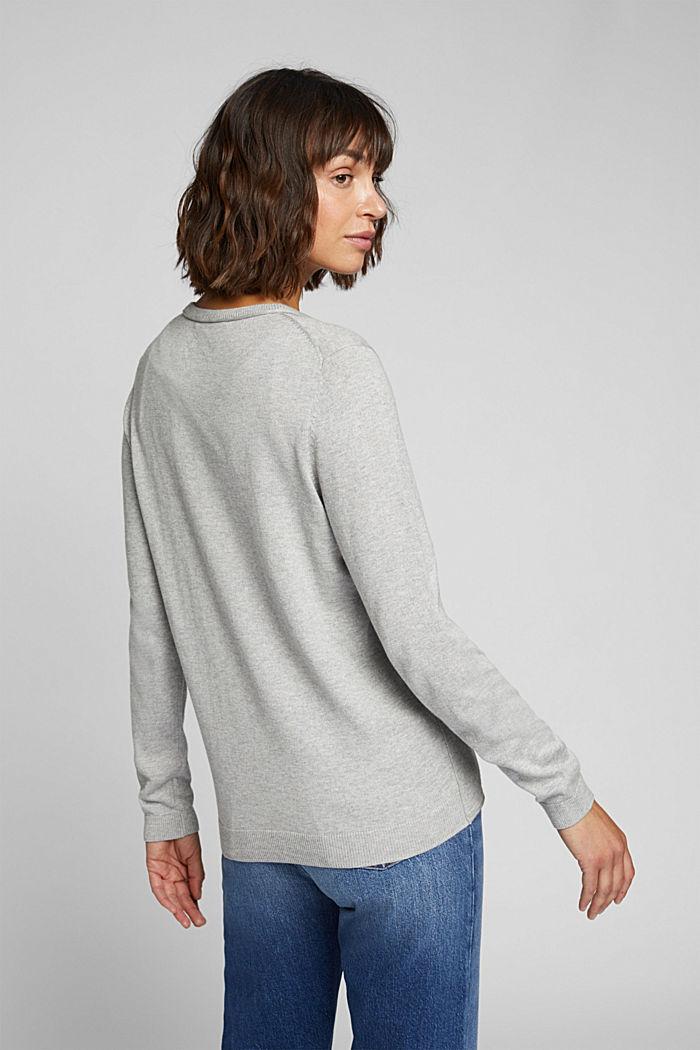 Basic cardigan, organic cotton, LIGHT GREY, detail image number 3