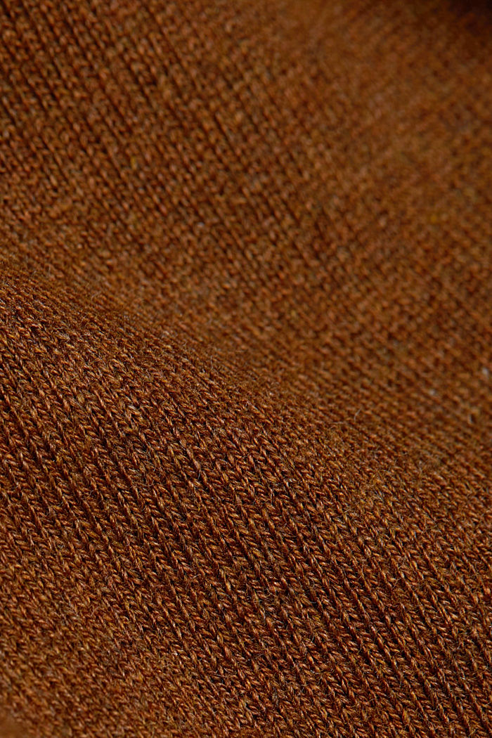 Basic cardigan, organic cotton, TOFFEE, detail image number 4
