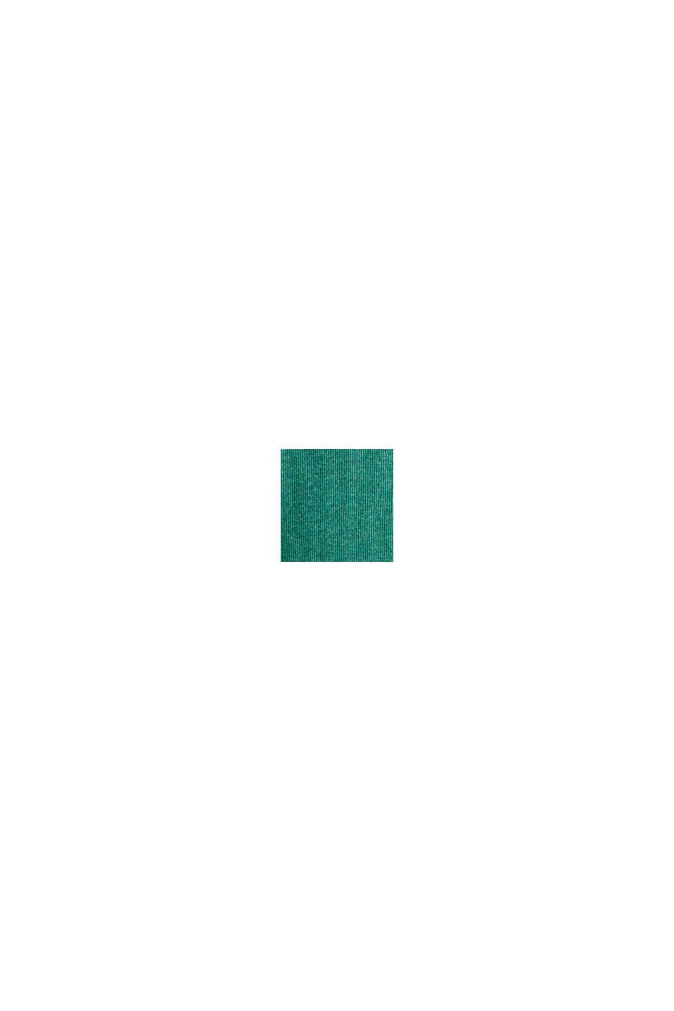 Basis-cardigan, økologisk bomuld, DARK GREEN, swatch