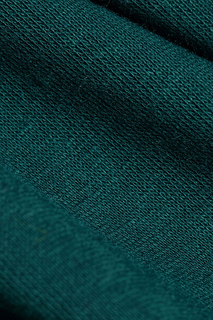 Basic cardigan, organic cotton, DARK TEAL GREEN, detail image number 4
