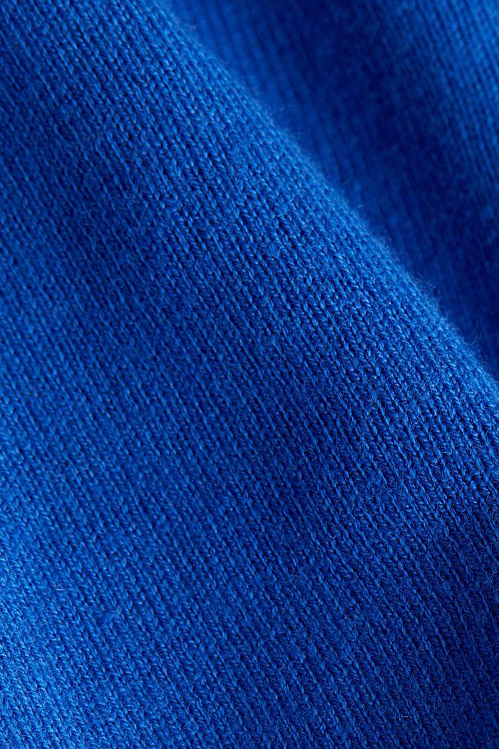 Basic cardigan, organic cotton, BRIGHT BLUE, detail image number 4