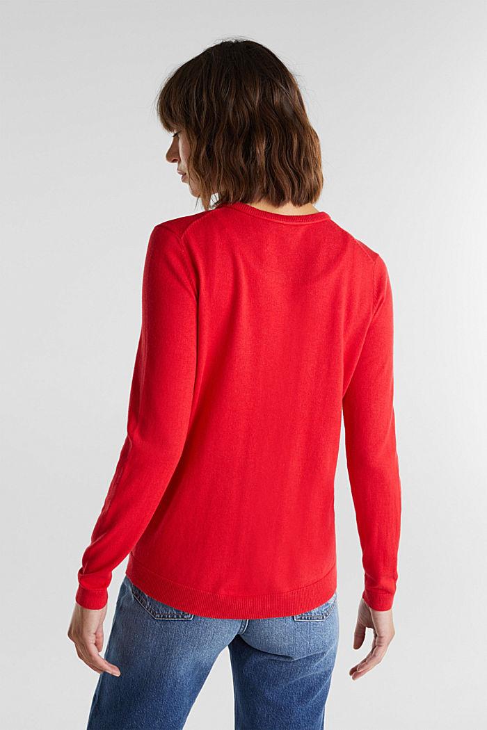Basic cardigan, organic cotton, RED, detail image number 3