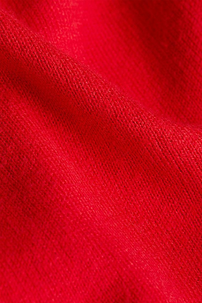 Basic cardigan, organic cotton, RED, detail image number 4