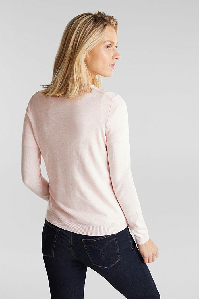 Basic cardigan, organic cotton, LIGHT PINK, detail image number 3