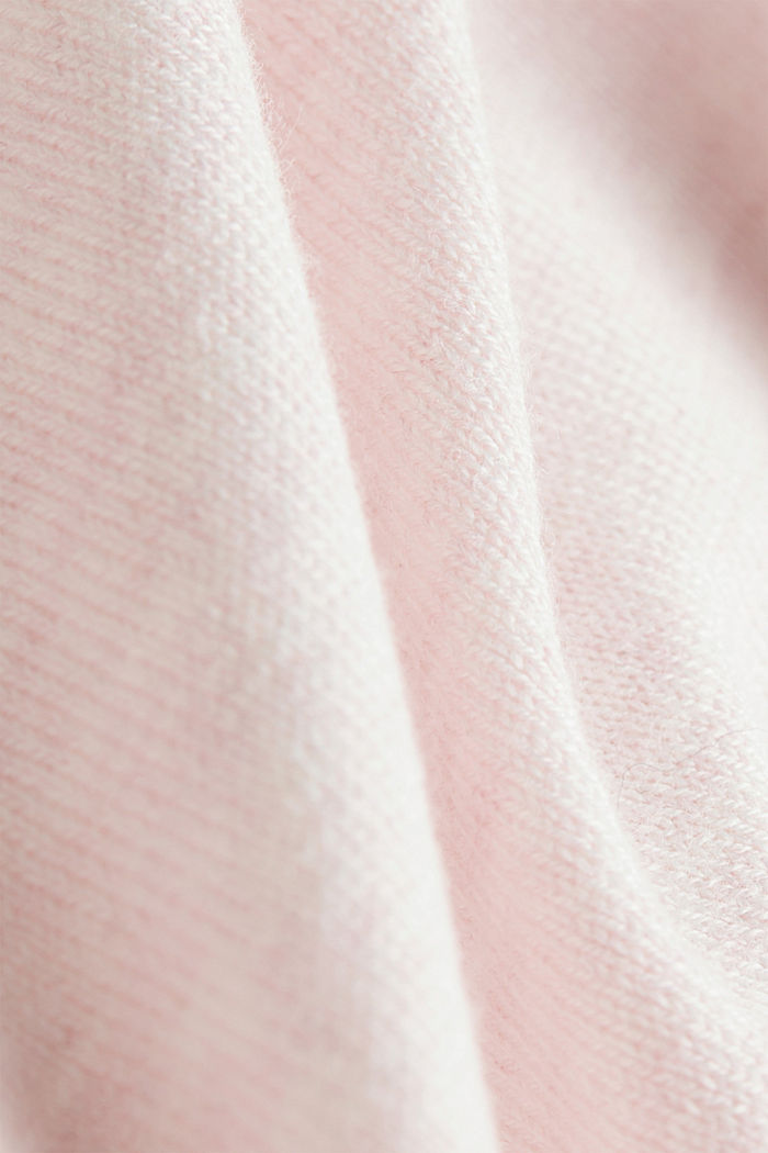 Basic cardigan, organic cotton, LIGHT PINK, detail image number 4