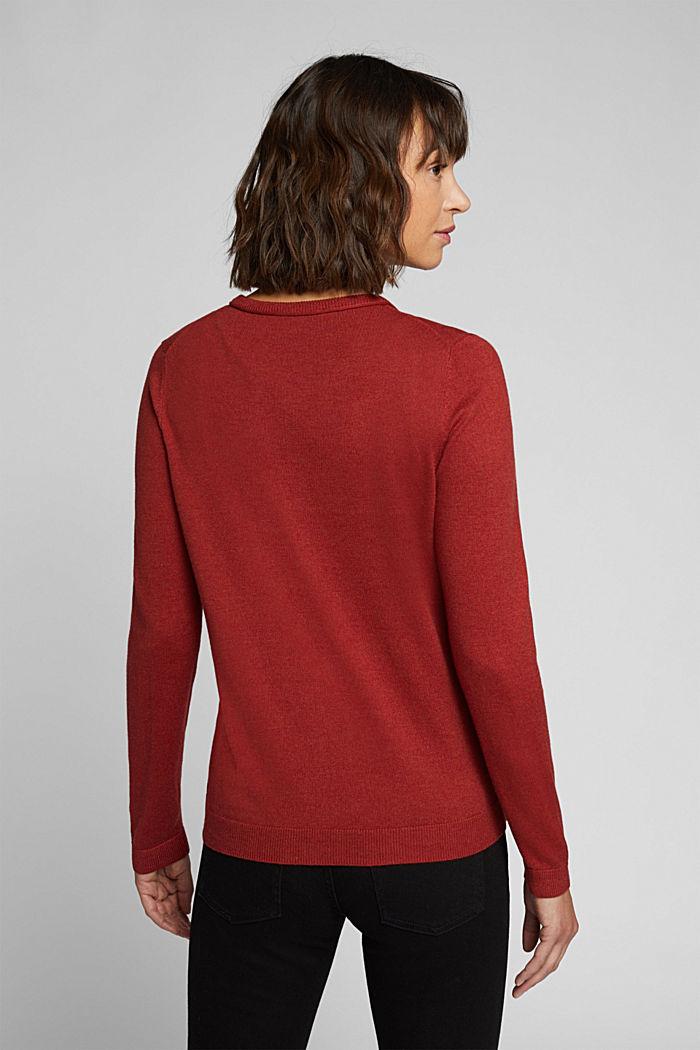 Basic cardigan, organic cotton, TERRACOTTA, detail image number 3