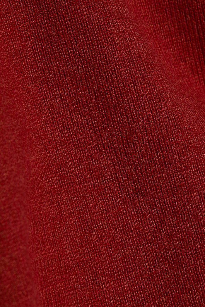 Basic cardigan, organic cotton, TERRACOTTA, detail image number 4