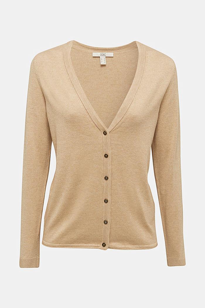 Basic V-neck cardigan, organic cotton