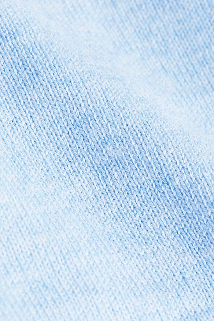 Basic V-neck cardigan, organic cotton, LIGHT BLUE, detail image number 4