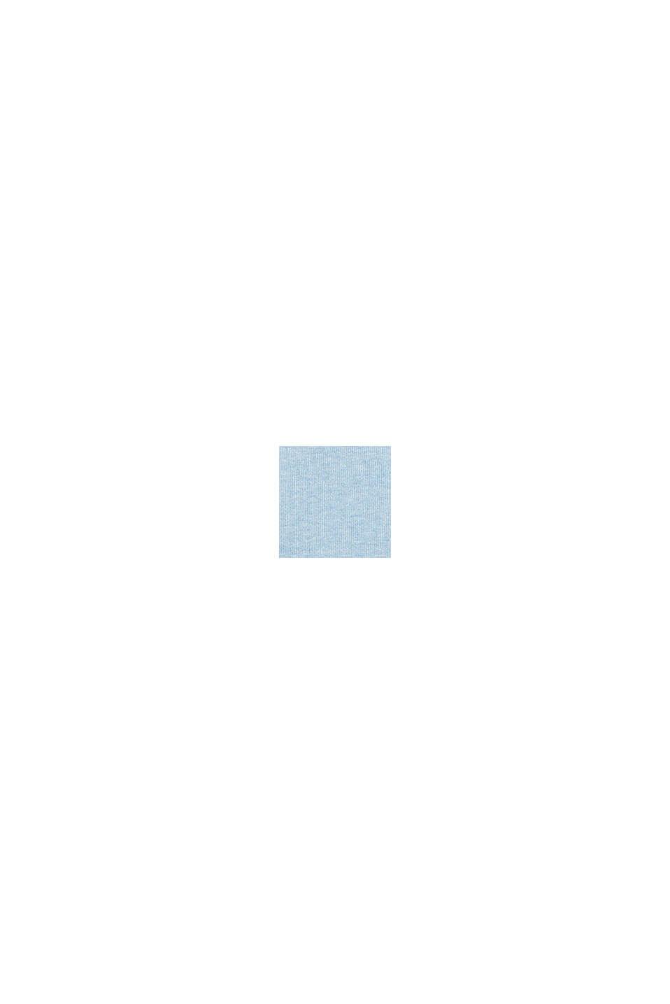 Basic V-Neck-Cardigan, Bio-Baumwolle, LIGHT BLUE, swatch