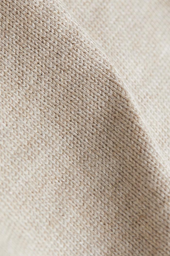 Kapuzen-Cardigan, Organic Cotton, SAND, detail image number 4