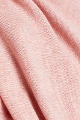 Hooded cardigan, organic cotton, PINK 5, detail