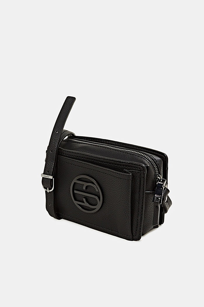 Faux leather camera bag, BLACK, detail image number 2
