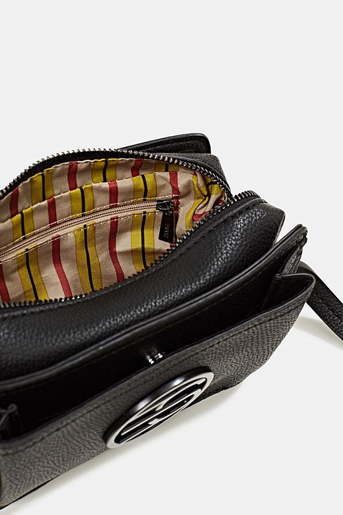Faux leather camera bag, BLACK, detail image number 4