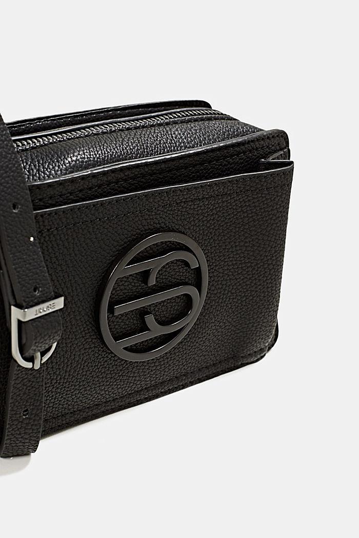 Faux leather camera bag, BLACK, detail image number 3
