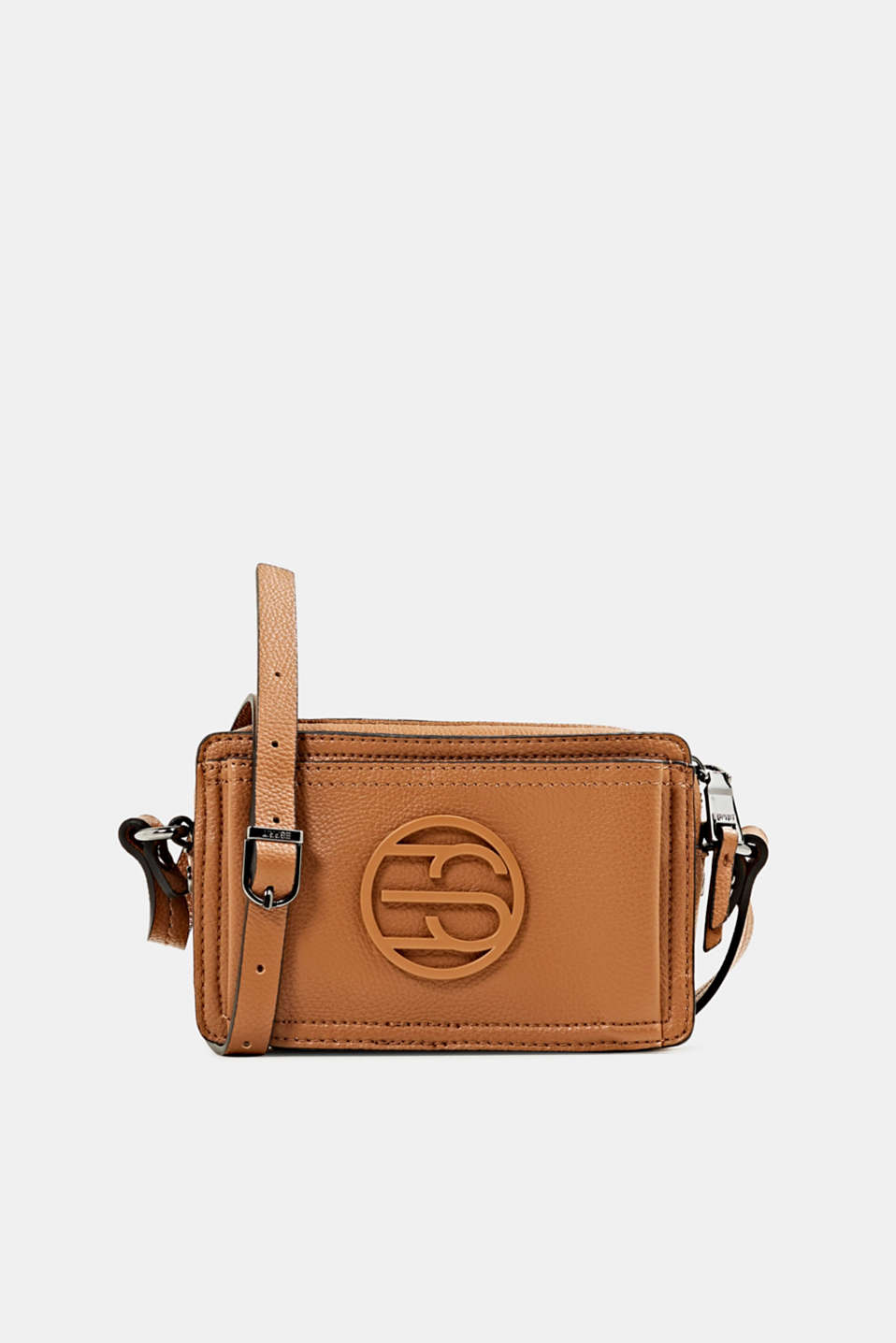 Esprit - Camera bag in leerlook