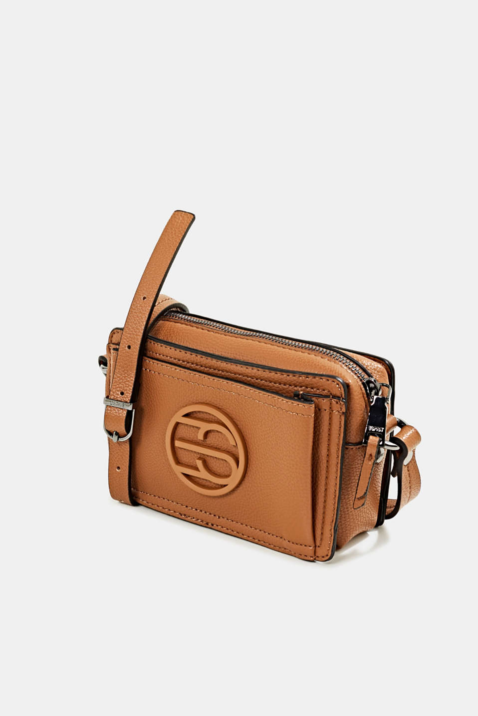 Faux leather camera bag, TOFFEE, detail image number 2