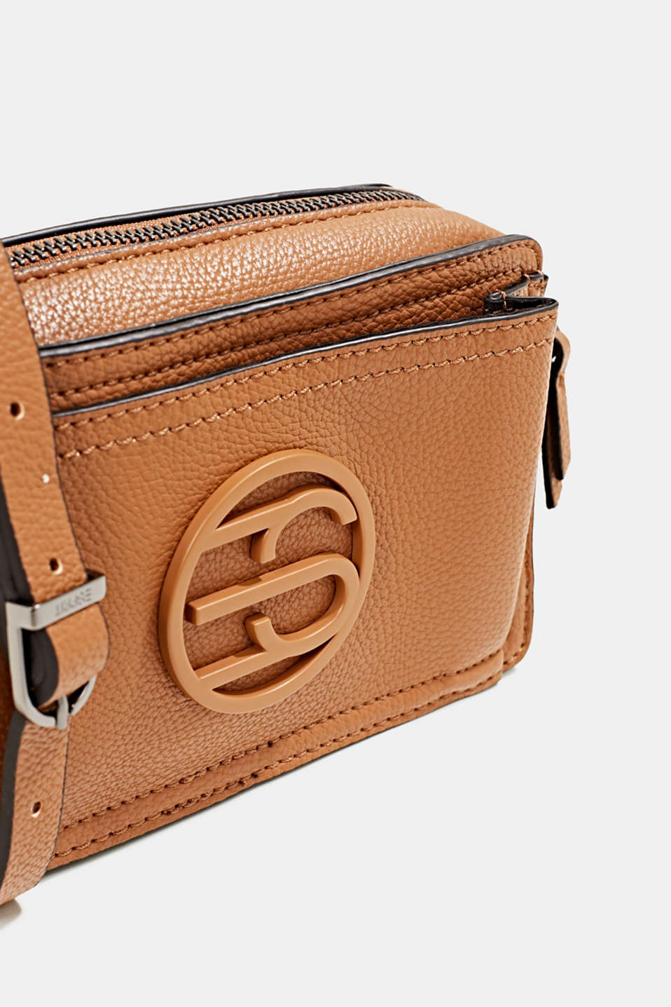 Faux leather camera bag, TOFFEE, detail image number 3